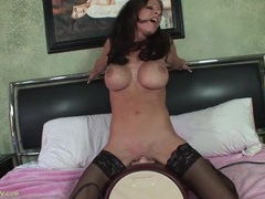 Fake titty milf babe riding the sybian movies at kilovideos.com