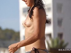Small milf tits are sexy on a babe at the beach movies at find-best-panties.com