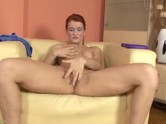 Sexy naked milf redhead rubbing her hot cunt movies at freekilomovies.com