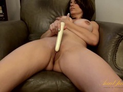 Vibrator pleasures her shaved milf pussy movies at find-best-hardcore.com