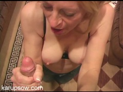 Sexy milf cocksucker tastes his cum videos
