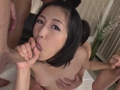 Skinny japanese cutie sucking off a group of guys videos