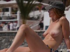 Small tits are sexy on the beach babe tubes