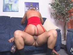 Red lingerie on a hot old slut getting fucked hard movies at kilotop.com
