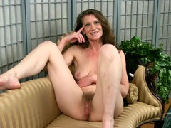 Hairy mature babe interviews in the nude movies at lingerie-mania.com