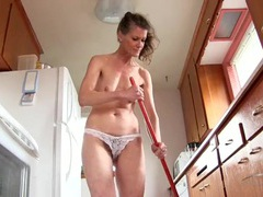 Sexy old lady cleaning house in her bra and panties movies at kilopics.net