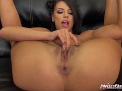 Flexible adriana chechik masturbates her wet cunt videos