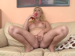Big tits and ass on a dildo fucking blonde babe videos