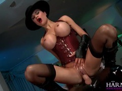 Jasmine jae fucking hard in a corset and stockings videos