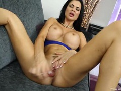 Sexy jasmine jae fucking a toy and talking dirty movies at sgirls.net