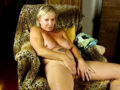 Interviewing mature babe strips to play with her cunt movies at very-sexy.com