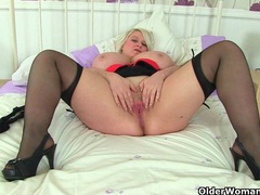Big titted and british milf sammy sanders plays with dildo movies at sgirls.net