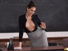 Teacher tempts you with her perky tits in a blouse videos