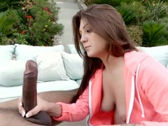 Petite girl with beautiful eyes sucks a huge black cock movies at kilotop.com