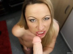 British milf offers an arousing virtual blowjob videos
