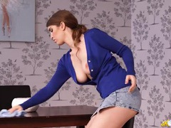 Big british titties pop out of her sexy cardigan videos