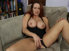 Sexy british milf gets off on dirty talk videos