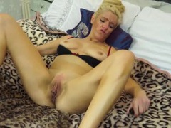 Lovely mature blonde plays solo with her vibrator videos