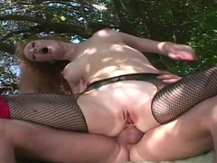 Deep anal outdoors with a sexy redheaded whore videos