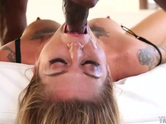 Slobbering on a big black cock like a slut videos
