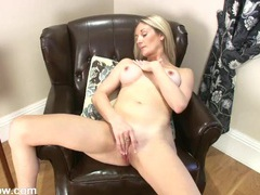 Naked milf with amazing tits masturbates erotically movies