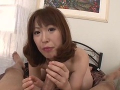 Sexy japanese cocksucker rides the dick in pov videos