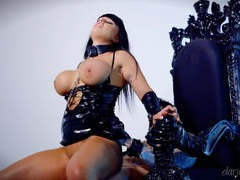 Whore on a leash fucked in her sexy pink pussy videos