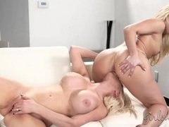 Secret lesbian sex between a pair of blonde beauties videos