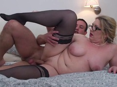 Chubby mom bent over and fucked by his young dick videos