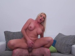 Cock pumping up into her wet milf pussy movies at lingerie-mania.com