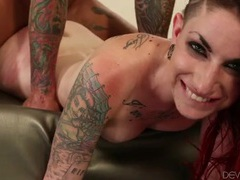 Slutty tattooed redhead pounded hard in her wet cunt videos
