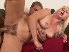 Blonde with a bush fucked in her slippery cunt movies at sgirls.net