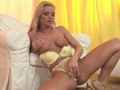 Pornstar silvia saint masturbating in yellow panties videos