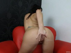 British dirty talk from a sexy masturbating girl clip