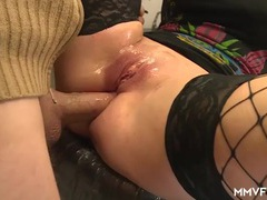 Pretty slut fucked by a couple of mechanics videos