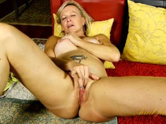 Hot tattooed mature chick finger bangs her pussy movies at kilopics.net