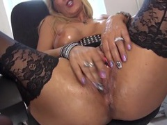 Slippery fake milf titties look hot as the babe masturbates movies at sgirls.net