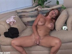 Cute freckled mom pleasures her hot cunt videos