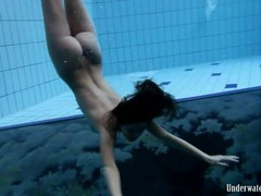 Naked swimming scene starring a busty beauty tubes