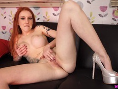 Jerk off instructions from a high heeled british redhead movies at kilogirls.com