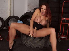 Milf talks dirty as she rams a toy into her cunt movies at sgirls.net