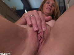 Fit milf body looks beautiful as she fools around in her bathroom videos