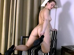 Hairy milf pussy looks perfect in a solo scene videos