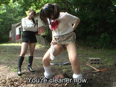 Subtitled japanese principal outdoor burial pee baptism tubes at japanese.sgirls.net