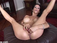 Vibrator has a hot milf moaning in pleasure movies at kilopics.net