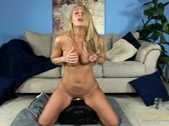Joyful naked blonde milf sits on the sybian movies at kilopics.net
