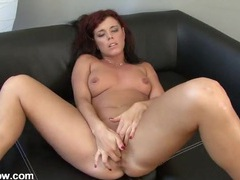 Red hair and a nice tan on the masturbating mom videos