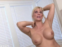 Hot mature blonde gets naked for her interview videos