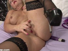 Slutty heels are so hot on this masturbating milf movies at find-best-babes.com