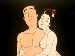 Cartoon girl in a kimono fucks a guy videos